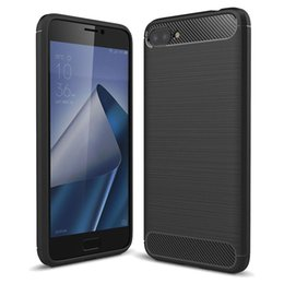 case armor zenfone UK - For Asus Zenfone 4 Max ZC520KL Brushed Texture Carbon Fiber Shockproof TPU Rugged Armor Protective Case