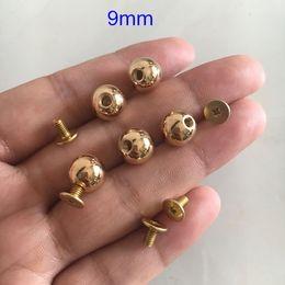 Bronze Purse Handbag Feet Nailhead Round Studs Solid Brass Screw Back Spike For Bags Modern Design 50 Pcs/ Lot Gold Gun Black Silver