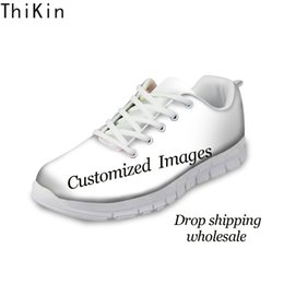 Images Rubber Shoes NZ - THIKIN Custom Images or Logo Flats Casual Shoes Breathable Comfortable Shoes Woman's Men's Flat Shoe