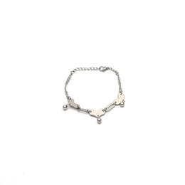 Stainless Steel Ball Chain Bracelet UK - unique women bracelet jewelry wholesale stainless steel silver color bracelet heart shape with small steel ball braceletBr041556