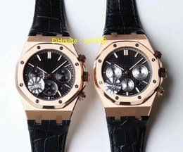 Roses Butterflies Australia - Rose Gold Luxury Watch 7750 Automatic Wristwatch 12H Chronograph Leather Strap Butterfly buckle Diameter 41mm Sport Style Mens Watches