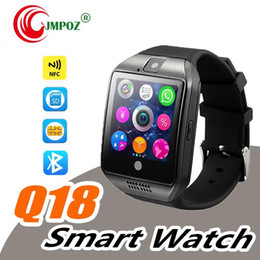 lg android sim card Australia - Smart Watch Q18 wireless smart wristbands NFC Remote camera SIM Card Passometer for ios android samsung htc lg smart watches facebook
