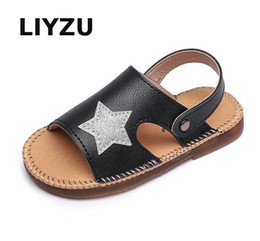 Discount korean rubber shoes boys - Children Sandals For Girls Summer Baby Girls Korean Style Five Stars Princess Shoes Kids Beach Sandal Flat Non-slip Summ