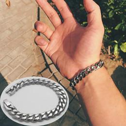 $enCountryForm.capitalKeyWord Australia - 2019 Stainless Steel Men Bracelet Gifts Mens Chain Cuban Link Accessories Black Retro Rock Charm Hand Chain Bracelets Male