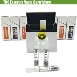 Extract vapE online shopping - TKO Extracts Vape Cartridges ml Empty Thick Oil Thread Pen Ceramic Cell Coils Glass Carts Vaporizer Flavors Stickers Packaging box tank