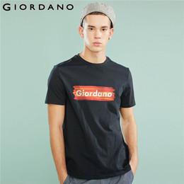 $enCountryForm.capitalKeyWord Australia - Giordano Men T-shirt Men GIO Logo Printing Letters Ribbed Crewneck Tshirt Men Short Sleeve Cotton Tee Shirt Fashion Simple Tops