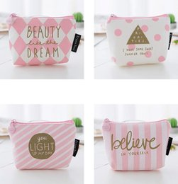 Canvas Coin Gift Bags Wholesale Australia - New Coin purse pink Canvas key holder wallet small Christmas gifts bag clutch handbag 4 style