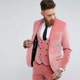 $enCountryForm.capitalKeyWord Australia - Fashionable One Button Groomsmen Shawl Lapel Groom Tuxedos Men Suits Wedding Prom Dinner Best Man Blazer(Jacket+Pants+Tie+Vest) A124