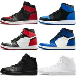 CyCle games online shopping - 1 Basketball Shoes Top Banned Bred Toe Chicago OG S Barons Hare Game Royal Blue Mens Shattered Backboard Sports Sneakers US