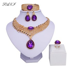 dubai costume sets 2019 - Fani Fashion African Jewelry Sets Women Costume Nigerian Wedding Jewelry Set Brand Dubai Gold Color Jewelry Set Wholesal
