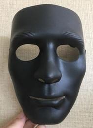 $enCountryForm.capitalKeyWord Australia - 300pcs Halloween face mask white jabbawockeez mask hiphop jabbawockeez mask white hip hop plain masquerade masks white black blue green