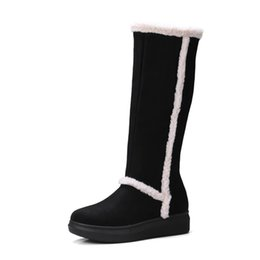 $enCountryForm.capitalKeyWord Australia - Women's High Boots 2019 Winter Solid Color Female Knee-High Boot Rubber Sole Woman Warm Winter Shoes Long Boots For Woman Shoes