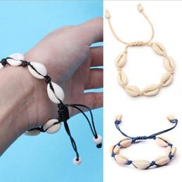 $enCountryForm.capitalKeyWord Australia - Sale fashion woven Wax rope conch bracelet bohemian Metal color seashell handmade adjustable bracelet jewelry Spot wholesale free de