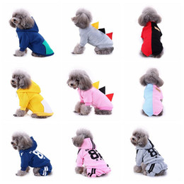Wholesale female winter coat designs resale online - 14 Designs Pet Dog Warm Hoodies Fall Winter Dogs Sports Sweaters Clothes Puppy Apparel Small Dog Coats Outerwears Costumes