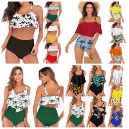 c9a0d23e1a2 23styles Women Waist Polka Dot Bikini Sexy Print Swimwear Summer Beachwear  Lotus Leaf Floral Bra Set Swimsuit Bathing Suit LJJA2278