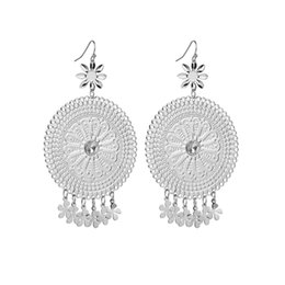 $enCountryForm.capitalKeyWord UK - Charm Earrings For Women Vintage Flower Pattern Cabochon Brincos Jewelry Hollow Wedding Earrings E2 E3