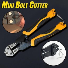 flat clamp Canada - Two-color mini bolt cutter cutter steel clamp clamp manual tool wire multi-function powerful portable pocket FD