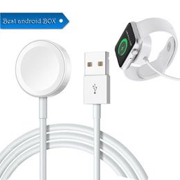 Wholesale HOT Magnetic Charging Cable Swatch Boots Up Wireless Charging Pad For Apple Watch Charger Cables M Fast Charging mm mm Free DHL