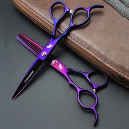 $enCountryForm.capitalKeyWord NZ - Professional LEFT HAND 6inch Straight Thinning Scissors Set Valious Color Hairdressing Style Hair Cut Tool Barber Shears Scissor