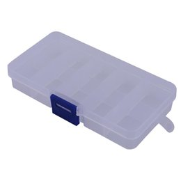 Bait Boxes Wholesale NZ - Nail Art Toolbox 10 Grid Fish Lure Storage Case Fly Fishing Lure Spoon Hook Bait Case Box Waterproof Fishing Tackle Boxes Pesca