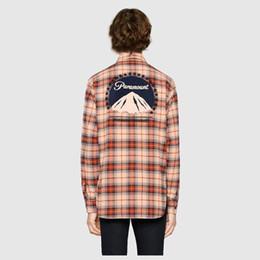$enCountryForm.capitalKeyWord UK - Luxury Europe Paramount Behind Snow Mountain Print Shirt Street Fashion Best Selling High Quality Men Women Couple Summer Shirt Hfssjk169
