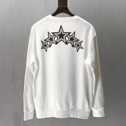 black sweater white stars 2020 - Mens Designer Hoodie Tide Brand Sweater High Quality Gradient Star Casual Sports Sweater Men and Women Fashion Sweatersh