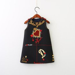 European Clothing Australia - New Girls Dress Spring Autumn European and American Style embroidery Flower vest dress toddler Baby Girls clothing 2-7Y