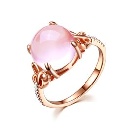Roses Butterflies Australia - R121 luxury Rings pink circular jewelry female New Style rose gold For Women crystal butterfly gift ring
