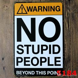 $enCountryForm.capitalKeyWord NZ - 500pcs Danger Warning Metal Tin Signs No Smoking Signage Home Decor Wall Art Painting Plaque Vintage Rock&Roll Decorative Metal Sign