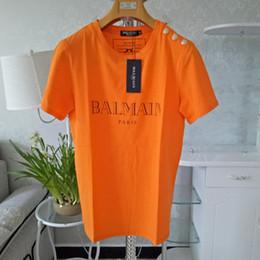 Опт 20SS Balmain Mens Стилистой Футболка Мода Стилистой футболка письмо Печать с коротким рукавом Тис Размер S-XXL