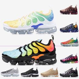 Cheap Light Running Shoes NZ - Cheap selling Tn Plus shoes women mens running shoes Light Menta Bleacked aqua Smokey Mauve Fades Blue Rainbow designer trainers sneakers