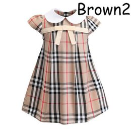 Wholesale Girls Designer Dresses Summer New Luxury British Style Dresses College Style Cute A line Dress Birthday Party Princess Clothing Style