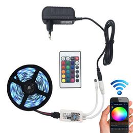 Rgb Wireless Controller Australia - 5M 5050 RGB WIFI LED Strip light Waterproof RGB 10M led ribbon tape Remote WIFI Wireless Controller 12V power adapter Kit
