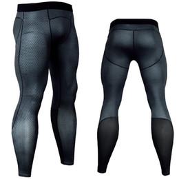 Venta al por mayor de medias medias impresión camuflaje fitness mientras que joggers pantalones de compresión pantalones masculinos pantalones de culturismo medias leteras para hombres C19041901