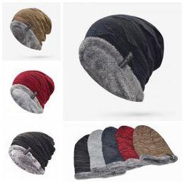 fd9a87c3c3c Warm Inner Crochet Cap 5 Colors Winter Warm Thicker Cycling Caps Men  Windproof Skiing Outdoor Hats Beanies 150pcs OOA6179