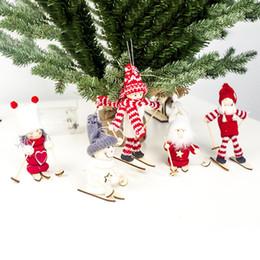$enCountryForm.capitalKeyWord Australia - 40# Bright Color Christmas Snow Skiing Snowman Yarn Doll Tree Window Showcase Display Case Xmas Decor