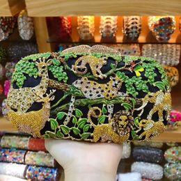 $enCountryForm.capitalKeyWord Australia - Women green Party Metal Crystal Clutches Evening Bags Wedding Bag Bridal Shoulder bag Handbag Wristlets Clutch Purse wallet box