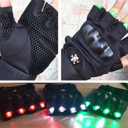 Wholesale Red Green Laser Gloves Dancing Stage Show Stage Gloves Light For DJ Club Party Bars LJJZ669