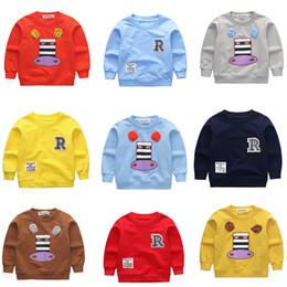 $enCountryForm.capitalKeyWord NZ - New Children's Long-sleeved T-shirt Boys Girls Baby Cartoon Donkey Horse Animal Comfortable Out 1-4 Years