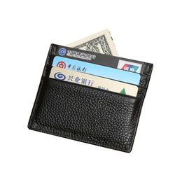 Bank Cards Holder Purse Australia - 2019 Fashion Casual Wholesale 100% Genuine Leather Comfort Pocket ID Credit Card Bank Card Slim Design Pocket Men's Holder Purse