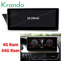 Audi Car Mp3 Australia - Krando Android 8.1 10.25'' car radio player navigation system for Audi A4L 2009-2016 multimedia player bluetooth stereo car dvd KD-AD195