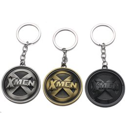 $enCountryForm.capitalKeyWord Australia - Marvel movie X-Men King Kong X logo alloy key chain metal anime car keychain gift