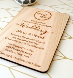 Custom wedding invitations online shopping - Wooden Rustic Wedding invitation Custom name and date Laser cut wooden invitation with envelops Laser Etched Invitation