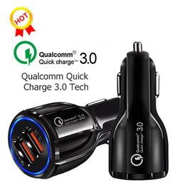 Usb Quick Charger Australia - Quick Charge QC3.0 Fast Charge 3.1A Quick Charge Car Charger 3.0 35W Dual USB Fast Charging For iphone Android Galaxy S10
