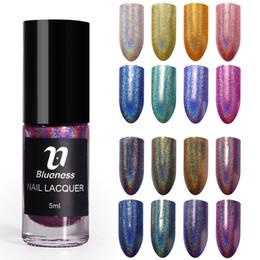 Glow dark nails polish online shopping - Blueness Bottle ml Holographic Nail Polish Mirror Nails Polish Glow In The Dark Paint Nail Varnish High Quality Gift