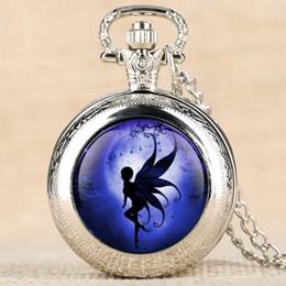 $enCountryForm.capitalKeyWord Australia - Cartoon Character Women's Pocket Watch Fairy Angels On Moon Pocket Watches Charm Jewelry Necklace Chain Pendant Clock for Girls