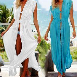 7f7737a4df Cotton Kaftans Sarong Bathing Suit Ups Pareos Swimsuit Cover Up Womens Swim  Wear Beach Tunic #q494 Q190521
