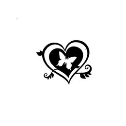 heart products NZ - Sticker Car Base Bomb Tuning Heart Wall Butterfly Vinyl Car Packaging Label Accessories Product Decoration Decal