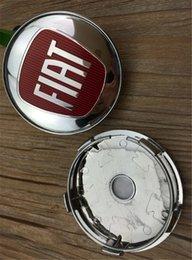 4pcsHaute Qualité ABS 60mm Auto Centre De Roue De Voiture Moyeu Chapeau Jantes Bouchon FIAT Logo Emblème Badge pour Fiat Viaggio Voiture