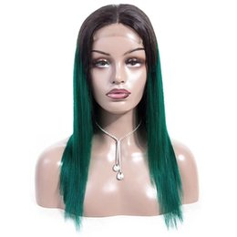 China ZSF Pre-colored Human Hair 4*4 Lace Closure Wigs And 13*4 Lace Frontal Wigs Ombre Brazilian Straight Hair Wigs suppliers